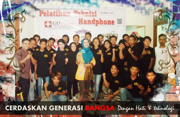 PELATIHAN SERVICE HP DINAS SOSIAL KOTA SURABAYA BARENG ANAK JALANAN (1)